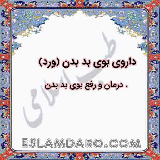 داروی بوی بد بدن (ورد) در طب اسلامی