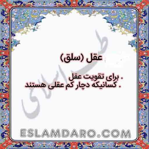 داروی عقل (سلق) در طب اسلامی