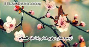 توصیه های امام رضا علیه السلام در مورد فصل بهار